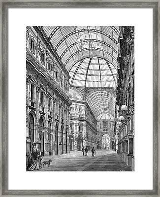 Galleria Vittorio Emanuele Framed Print by Bildagentur-online/tschanz
