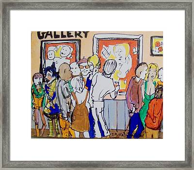 Gallery Opening  Framed Print by James Christiansen