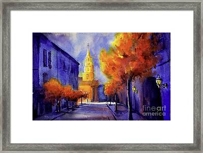 Gallery St. Charleston Framed Print by Ryan Fox