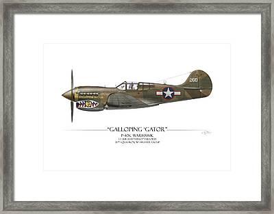 Galloping Gator P-40k Warhawk Framed Print by Craig Tinder