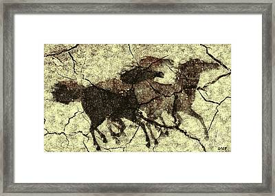Galloping Horses Framed Print by Dragica  Micki Fortuna