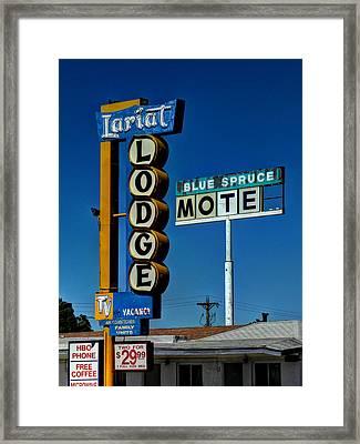 Gallup Nm - Vintage Motel Signs 001 Framed Print by Lance Vaughn