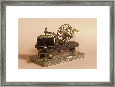Galvanism Machine Framed Print by Science Photo Library