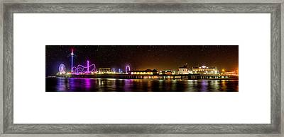 Galveston Historic Pleasure Pier Framed Print by Thomas Zimmerman