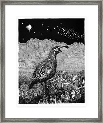 Gamblel's Quail Lucy In The Sky Framed Print by Jack Pumphrey