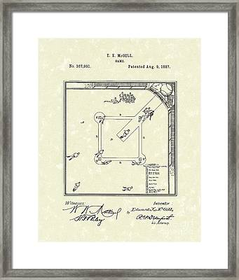 Game 1887 Patent Art Framed Print by Prior Art Design