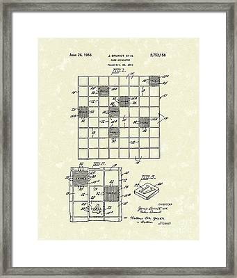 Game Board 1956 Patent Art Framed Print by Prior Art Design