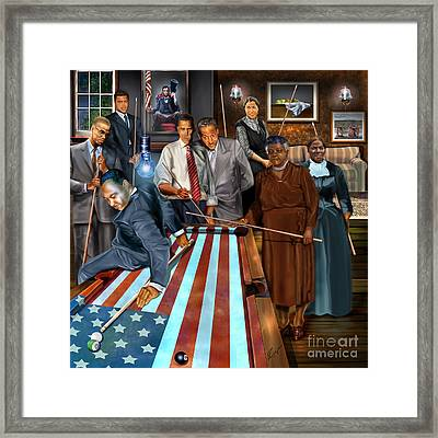Game Changers And Table Runners P2 Framed Print by Reggie Duffie