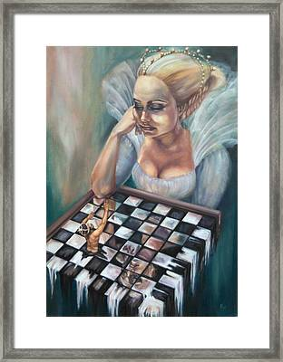 Game Over Framed Print by Violetta Tar
