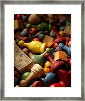 Game Pieces Framed Print by Daniel Troy