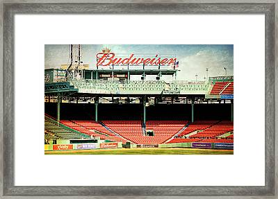 Gameday Ready At Fenway Framed Print by Stephen Stookey