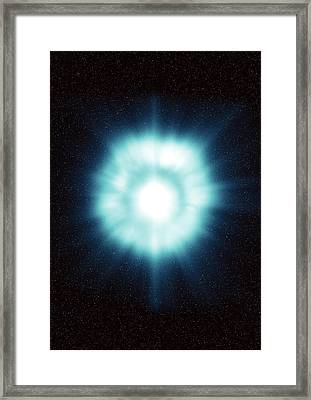 Gamma-ray Burst In Space Framed Print by Science Source
