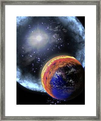 Gamma Ray Extinction Event Framed Print by Nasa