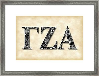 Gamma Zeta Alpha - Parchment Framed Print by Stephen Younts