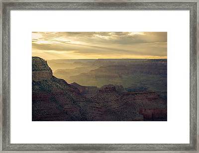 Gand Canyon Yellow Sunset Framed Print by Chris Bordeleau