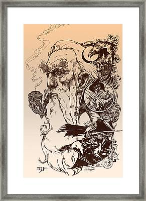 gandalf- Tolkien appreciation Framed Print by Derrick Higgins