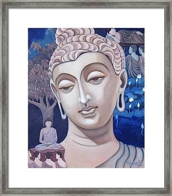 Gandhara Buddha Framed Print by Vishwajyoti Mohrhoff