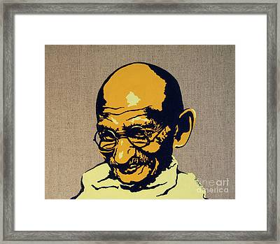 Gandhi Framed Print by Rebecca Mott