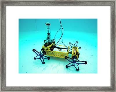 Gandolfi II Spacesuit Robot Framed Print by Alexis Rosenfeld