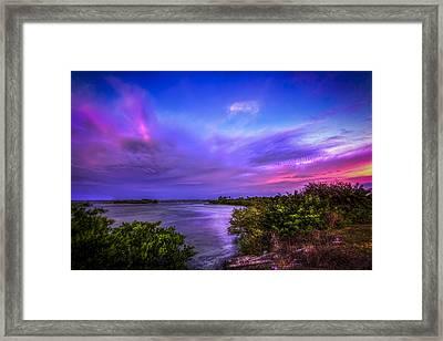 Gandy Lagoon 2 Framed Print by Marvin Spates