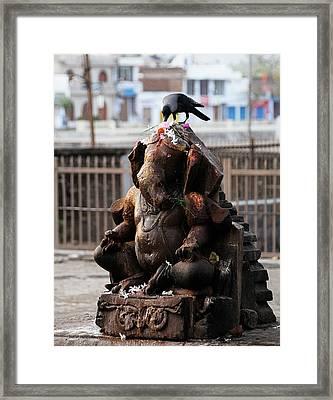 Ganeha Idol Framed Print by Money Sharma