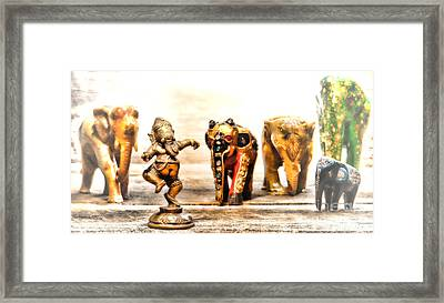 Ganesh Dream Framed Print by Olivier Le Queinec