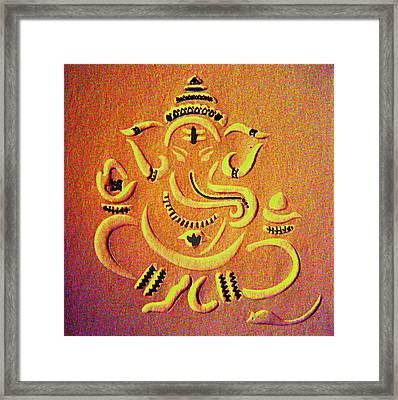 Ganesha Pietyz Framed Print by Piety Dsilva