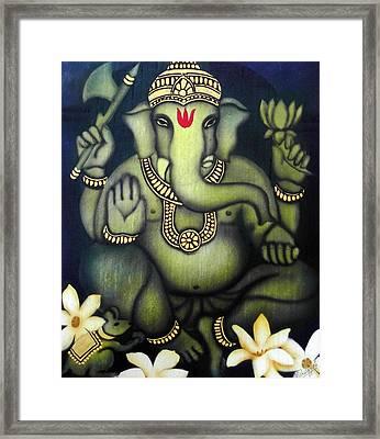 Ganesha Framed Print by Vishwajyoti Mohrhoff