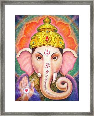 Ganesha's Blessing Framed Print by Sue Halstenberg