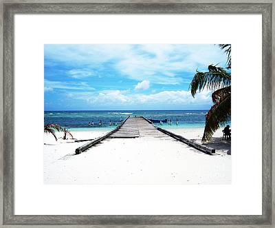 Gangplank Of Perfection Framed Print by Heather Kirk