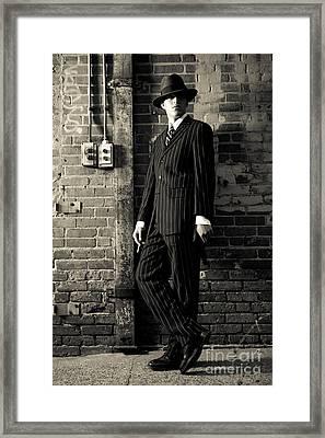 Gangster Framed Print by Diane Diederich