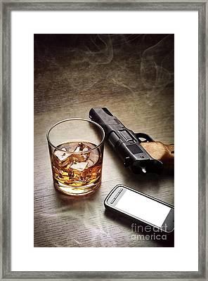 Gangster Gear Framed Print by Carlos Caetano