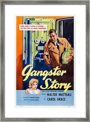 Gangster Story, Top Walter Matthau Framed Print by Everett