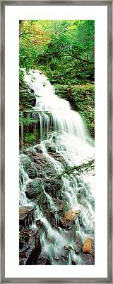 Ganoga Falls Ricketts Glenn State Park Framed Print by Panoramic Images