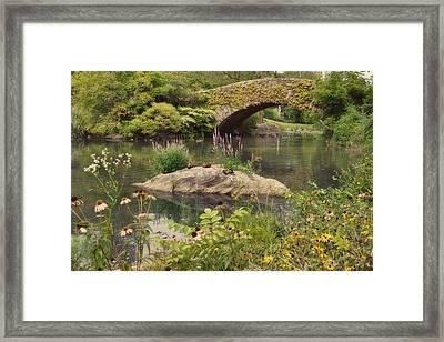 Gapstow Bridge Framed Print by Paulette B Wright