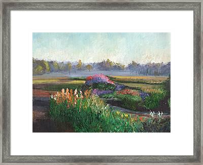 Garden At Sunrise Framed Print by William Killen