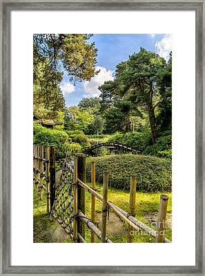 Garden Bridge Framed Print by Adrian Evans