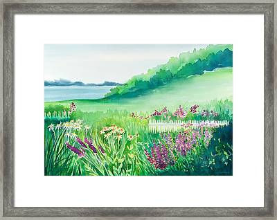 Garden By The Sea Framed Print by Michelle Wiarda