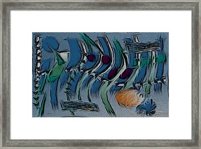 Garden City Abstract Blue Framed Print by Barbara St Jean
