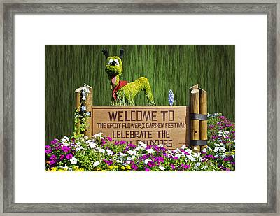 Garden Festival Framed Print by Thomas Woolworth