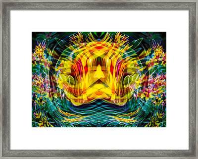 Garden Flowers Framed Print by Omaste Witkowski