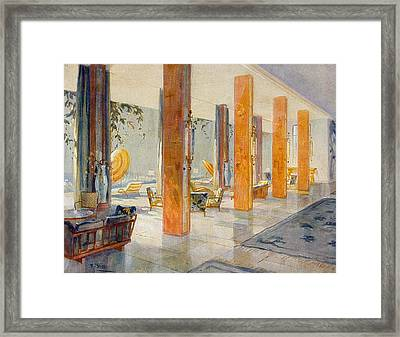 Garden Hall Of A Hotel, 1929 Framed Print by M. Stier