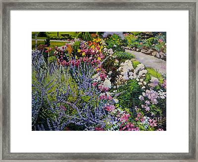 Garden In Full Sun Framed Print by William Bukowski
