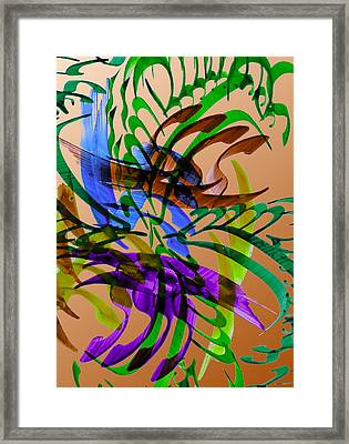 Garden Framed Print by Mah FineArt