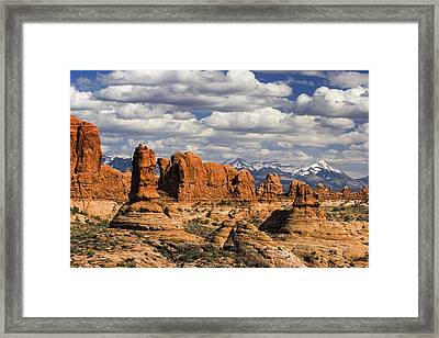 Garden Of Eden And La Sal Mountains Framed Print by Utah Images