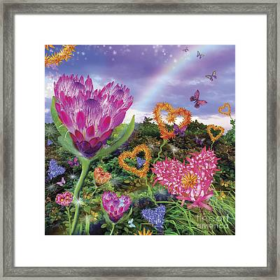 Garden Of Love 2 Framed Print by Alixandra Mullins