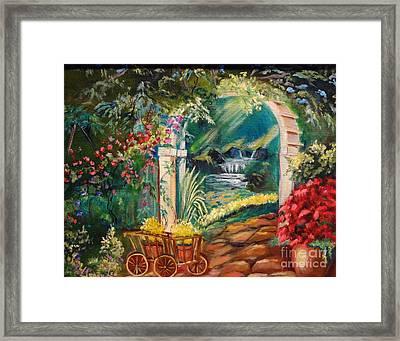Garden Of Serenity Beyond Framed Print by Jenny Lee