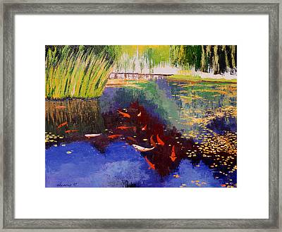 Garden Of Serenity Framed Print by Melody Cleary