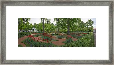 Garden Of The Catherine Palace Framed Print by Panoramic Images