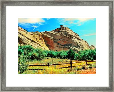 Garden Of The God's-colorado Framed Print by Kathleen Struckle